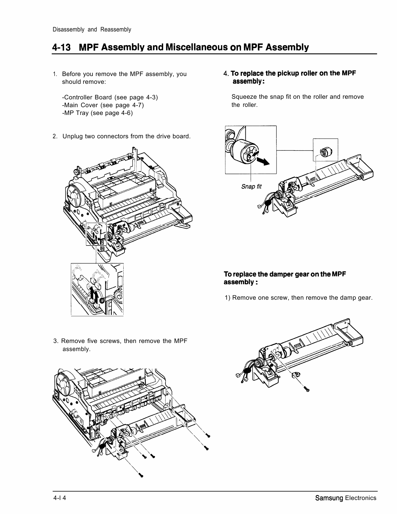 Samsung Laser-Printer ML-6100 Parts and Service Manual-3